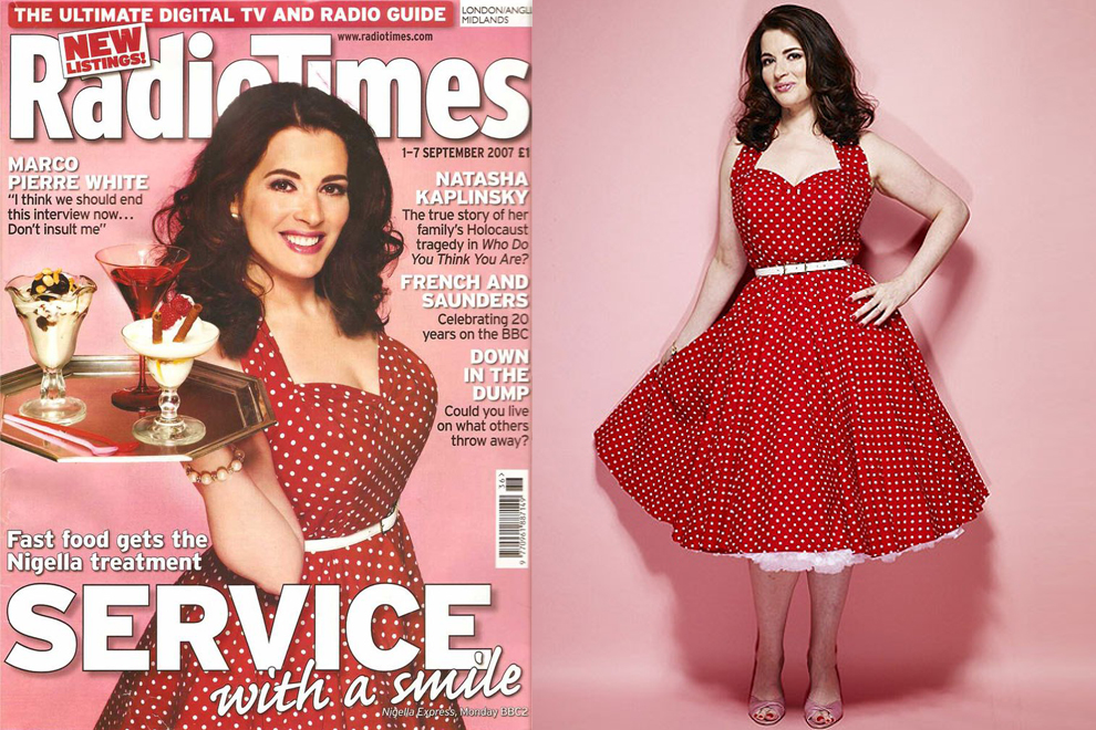 Nigella Lawson wears Vivien of Holloway