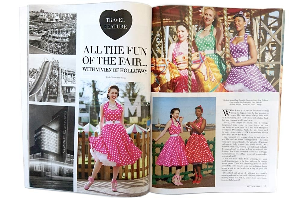 Vivien of Holloway travels to Dreamland, Margate, for Vintage Life's April Issue