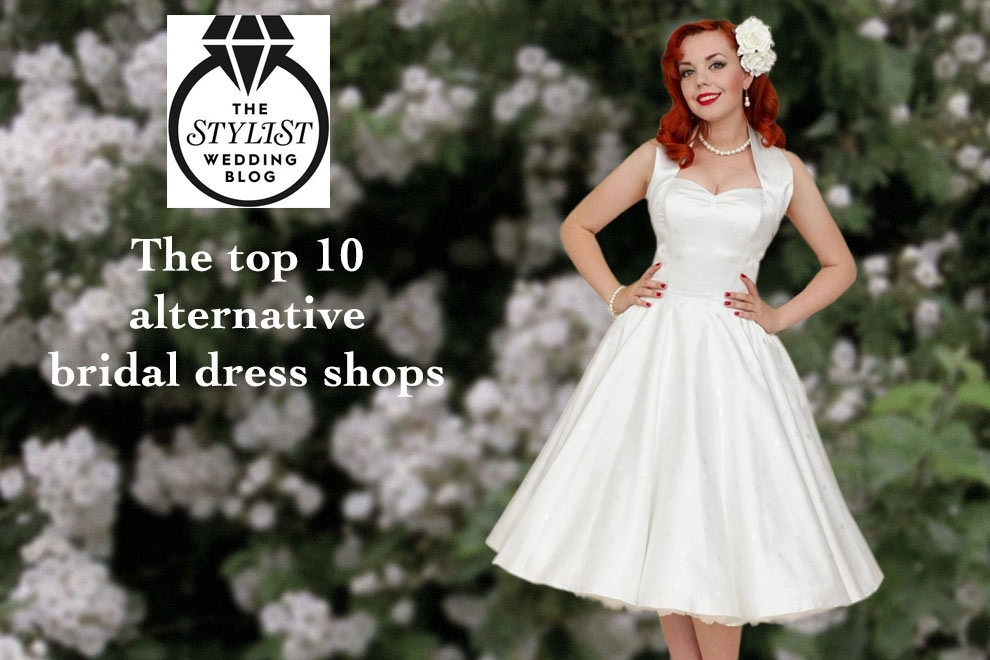 Vivien of Holloway features in Stylist Magazine's wedding blog in the top 10 alternative bridal dres