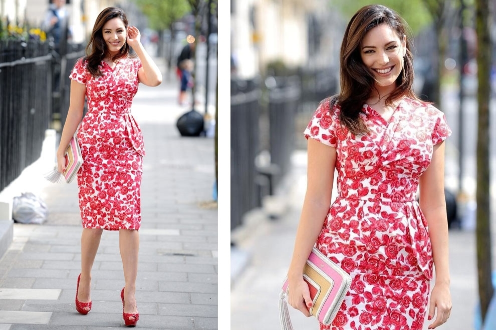 Kelly Brook puts a wiggle in her walk wearing Vivien of Holloway