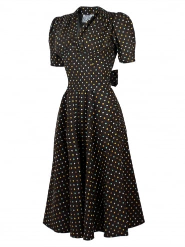 Nazare Dress Multi Spot Brown