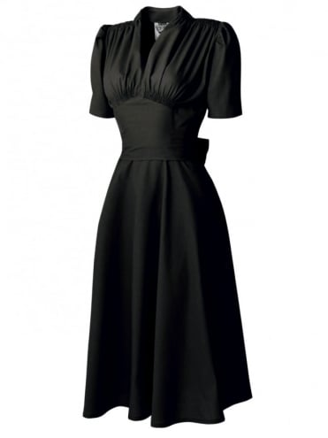 50s-1950s-Vivien-of-Holloway-Best-Vintage-Reproduction-Nazare-dress-Noir-Cotton-Rockabilly-Swing-Pinup