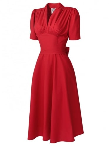 50s-1950s-Vivien-of-Holloway-Best-Vintage-Reproduction-Nazare-dress-Rouge-Cotton-Rockabilly-Swing-Pinup