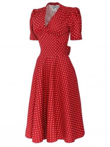 Nazare Dress Spot Red