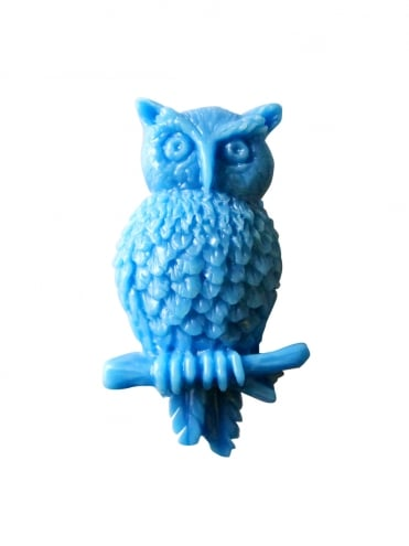 Owl Brooch Blue