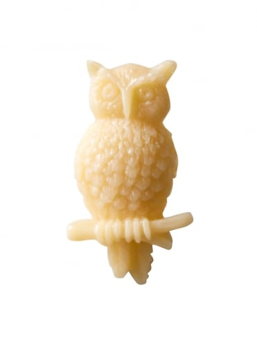Owl Brooch Cream