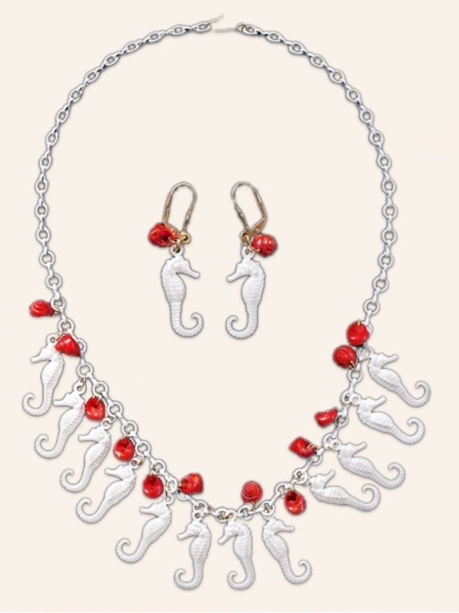 Pearly Seahorses Red - Set