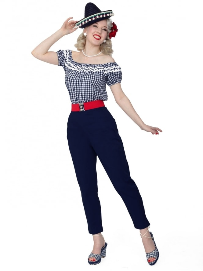 50s-1950s-Vivien-of-Holloway-Best-Vintage-Reproduction-Repro-Pedal-Pushers-Navy-Blue-Swing-Pinup-Rockabilly