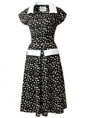 Peggy Lee Dress Daisy Black