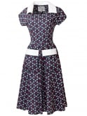 Peggy Lee Dress Nautical Navy