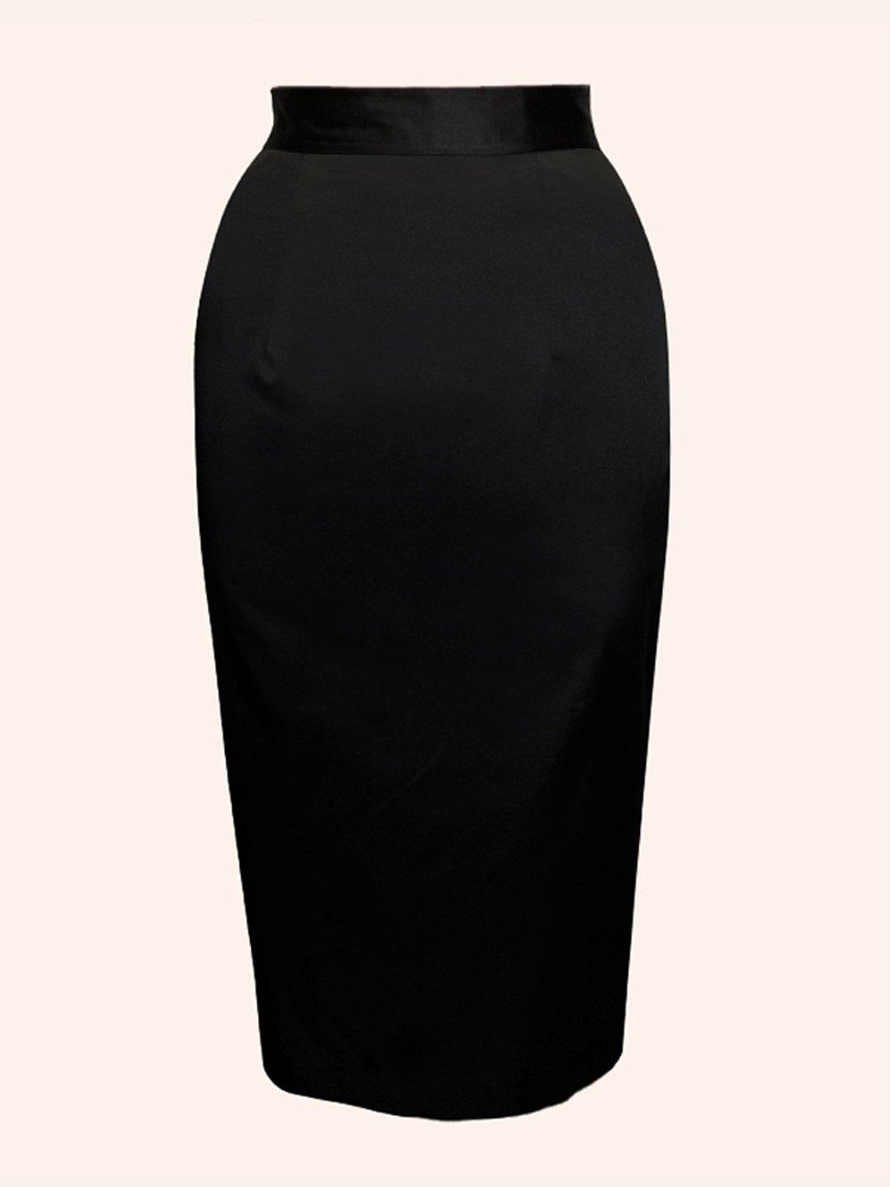 Black Cotton Skirt 98