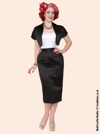 Pencil Skirt Black Duchess