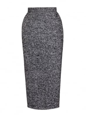 Pencil Skirt Black Fleck