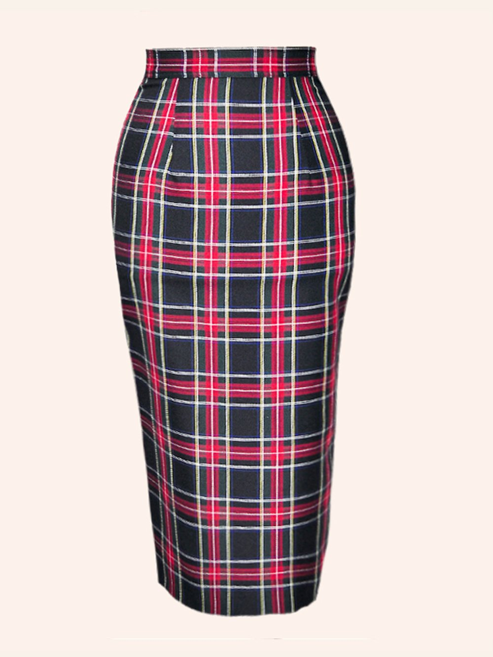pencil skirt black tartan from vivien of holloway