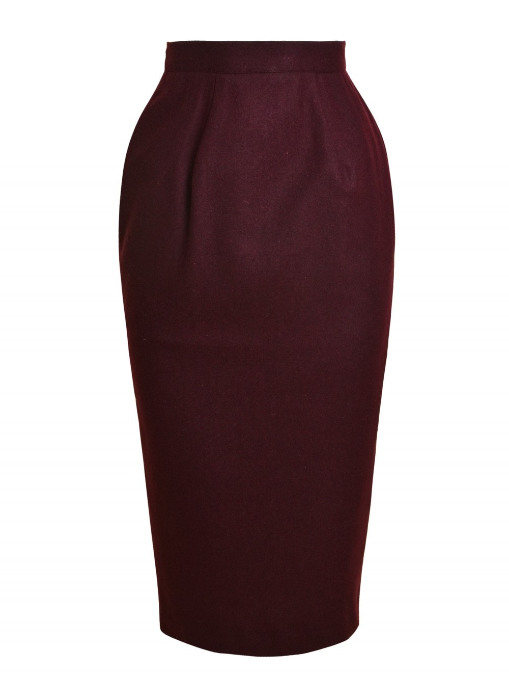 679c239d2 Pencil Skirt Lined Burgundy Flannel from Vivien of Holloway