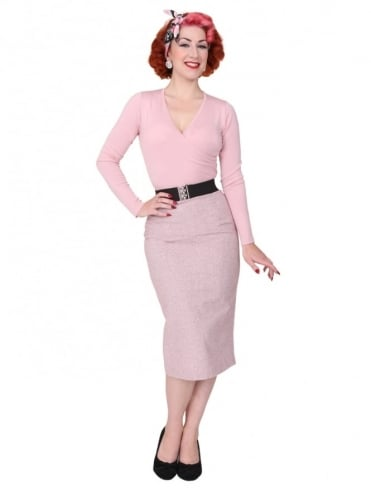 Pencil Skirt Donegal Pink