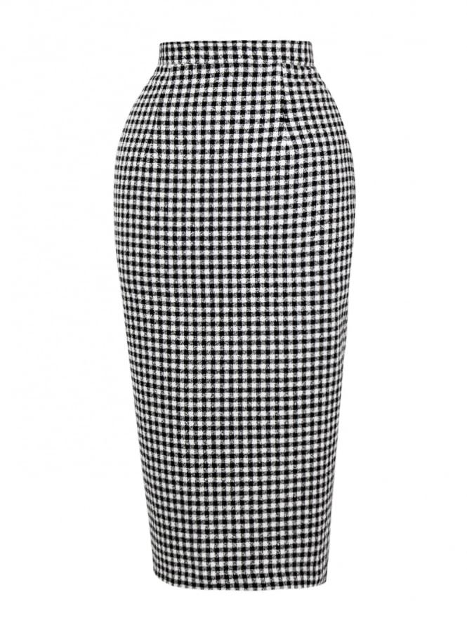 Pencil Skirt Gingham