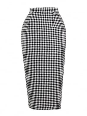 Pencil Skirt Gingham