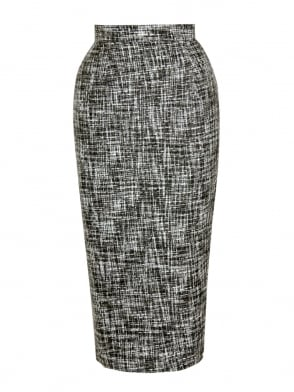 Pencil Skirt Grey Fleck