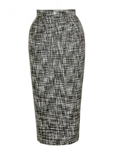50s-1950s-Vivien-of-Holloway-Best-Vintage-Reproduction-Pencil-Skirt-Grey-Fleck-Print-Rockabilly-Swing-Pinup