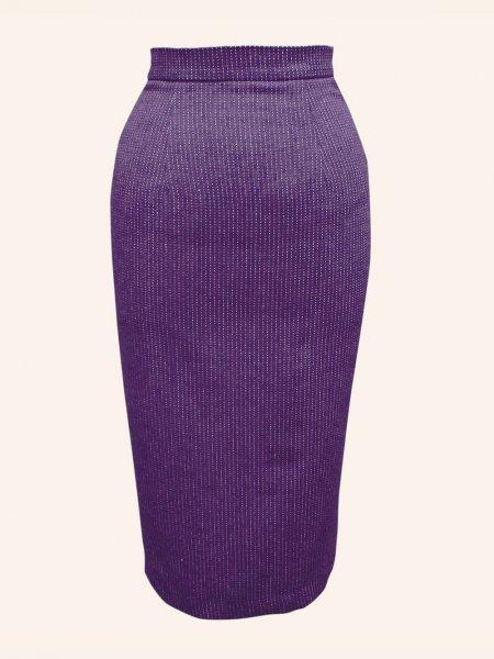 585f118a34c Pencil Skirt Purple Pinstripe