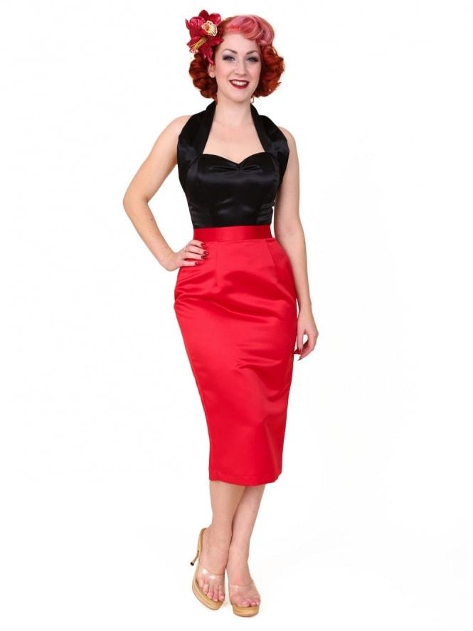 Pencil Skirt Red Duchess