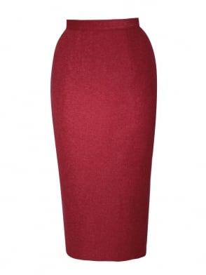 Pencil Skirt Scarlet Flannel
