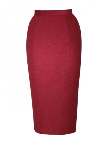 Pencil Skirt Scarlet Flannel