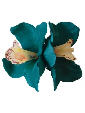 Pin-Up Double Orchid Teal