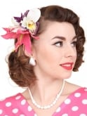 Pin-Up Hair Flower Lily Fuchsia Purple