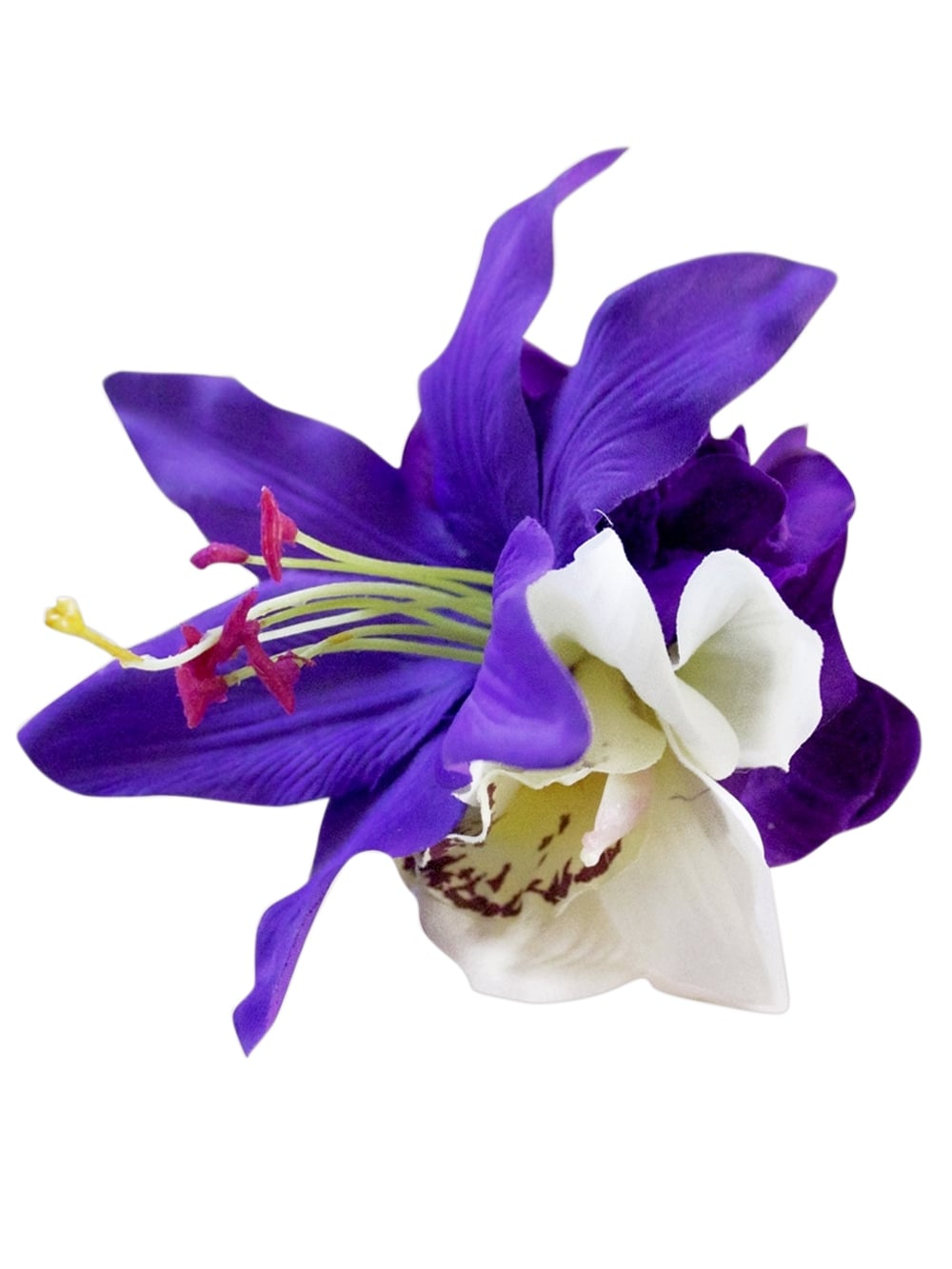 Pin Up Purple White Hair Flower From Vivien Of Holloway