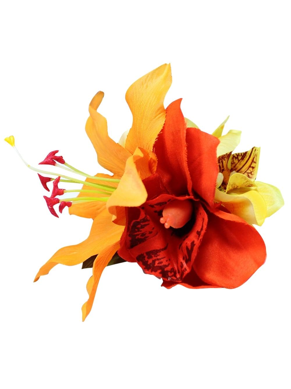 Yellow Orange Hair Flower From Vivien Of Holloway