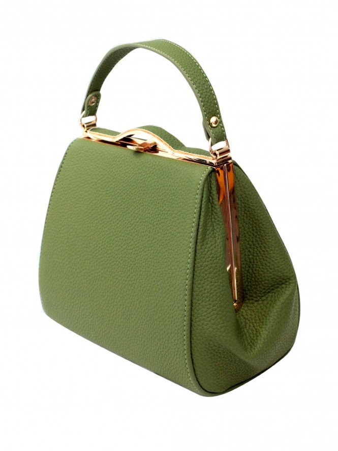 Pin-up Handbag - Jungle Green Croc