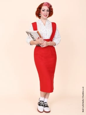 Pinafore Skirt Red Flannel