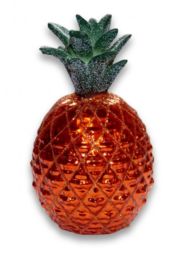 Pineapple Glitter Ornament Red