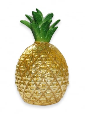 Pineapple Glitter Ornament Yellow