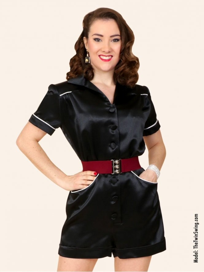 40s-1940s-Vivien-of-Holloway-Best-Vintage-Style-Reproduction-Playsuit-Crepe-Black-Satin-Swing-Pinup-Rockabilly