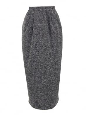 Pocket Skirt Black White Fleck