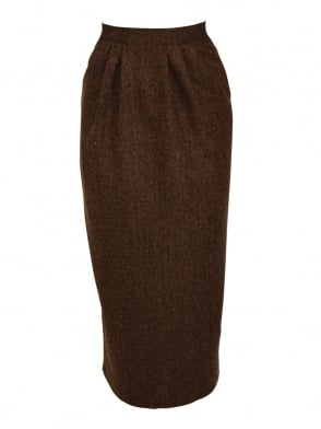 Pocket Skirt Brown Fleck