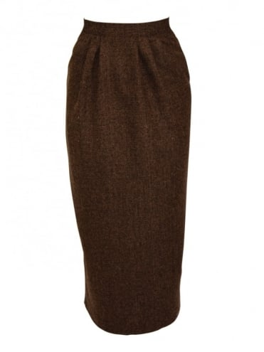 Pocket Skirt Brown Fleck