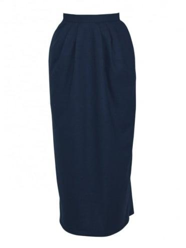 Pocket Skirt Navy Flannel