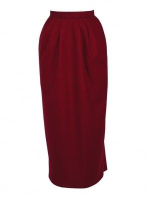 Pocket Skirt Ruby Flannel