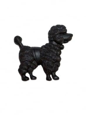 Poodle Brooch Black