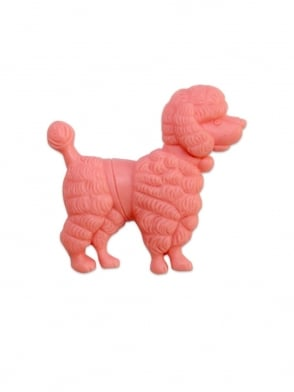 Poodle Brooch Candy Pink