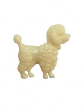 Poodle Brooch Cream