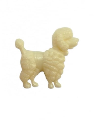 Poodle Brooch Cream