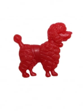 Poodle Brooch Red