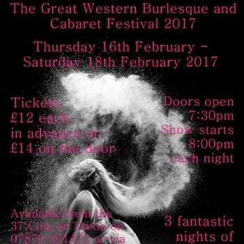 Win a pair of Ticket for The Great Western Burlesque Festival2017