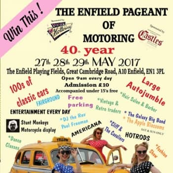 Win two tickets to the Enfield Pageant of Motoring