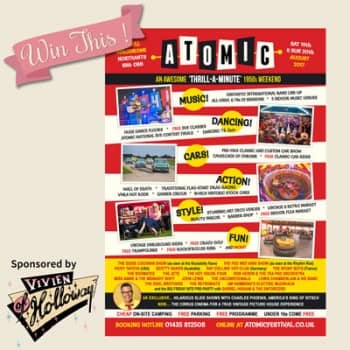 Win a pair of two-day tickets for ATOMIC Vintage Festival